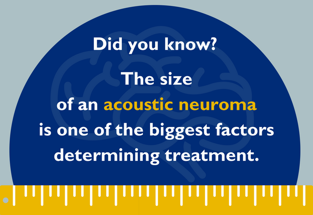 Acoustic neuroma size determines treatment