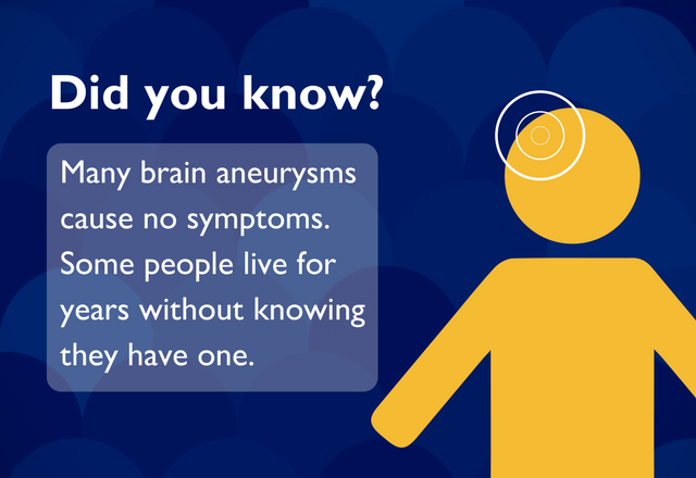 Many brain aneurysms cause no symptoms