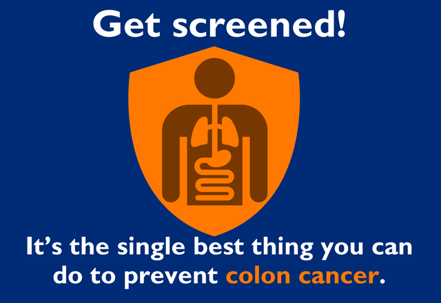 Get screened! It's the best thing you can do to prevent colon cancer.