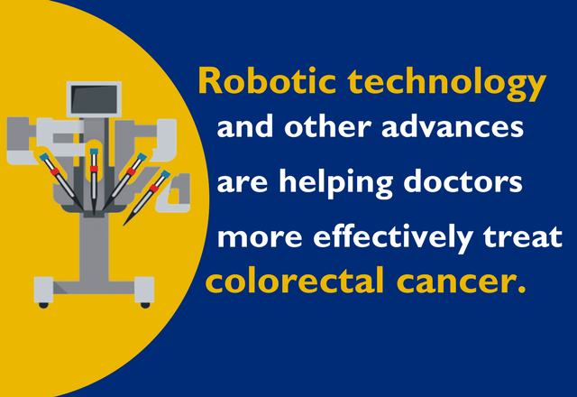 Robotic technology and other advances are helping doctors more effectively treat colorectal cancer.