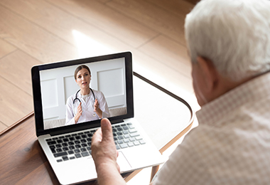 patient doing virtual appointment with doctor