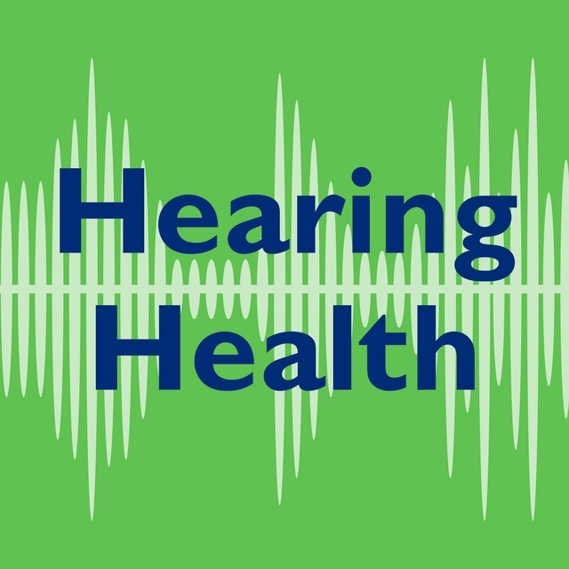 Hearing Health text on green background