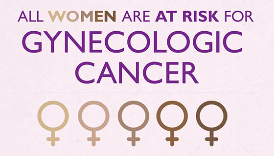 Snippet of gynecologic cancer infographic