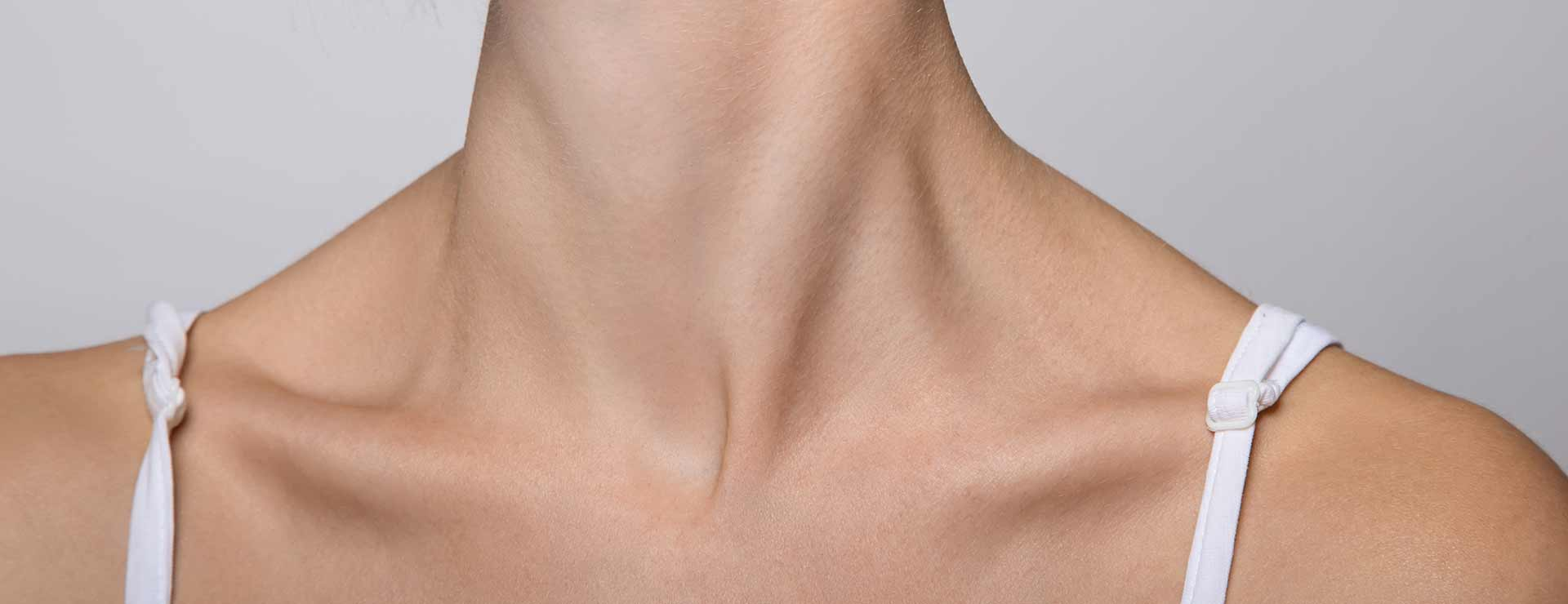 woman's neck and collar bones