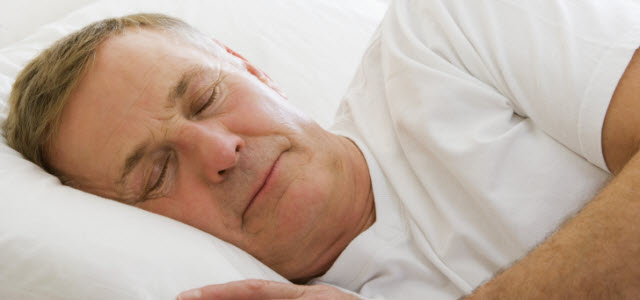 middle-aged man sleeping