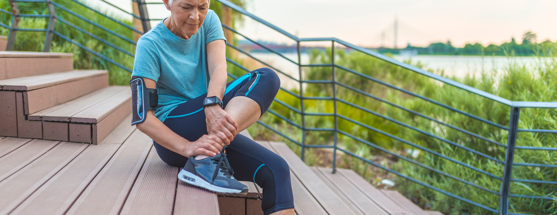 older women experiencing ankle pain