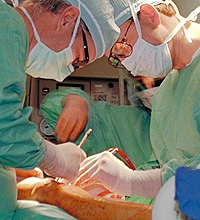 Photo of knee surgery