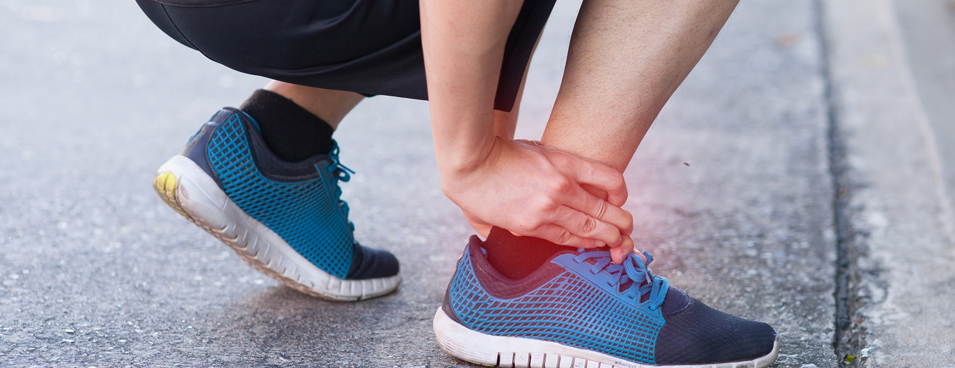 Runner experiencing ankle pain