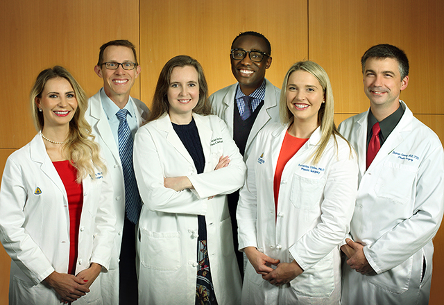 A group photo of the lymphedema surgery team at Johns Hopkins.