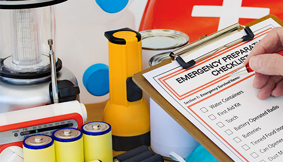 disaster checklist and supplies