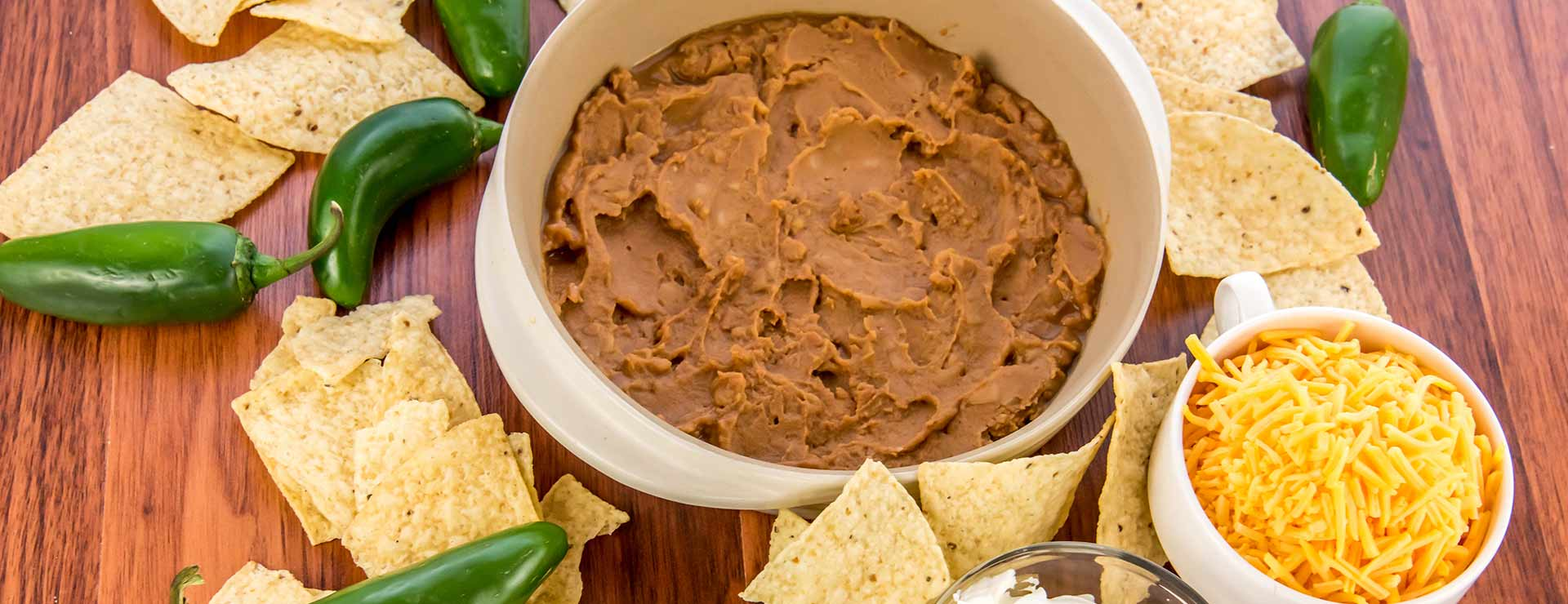 Bean dip and tortilla chips