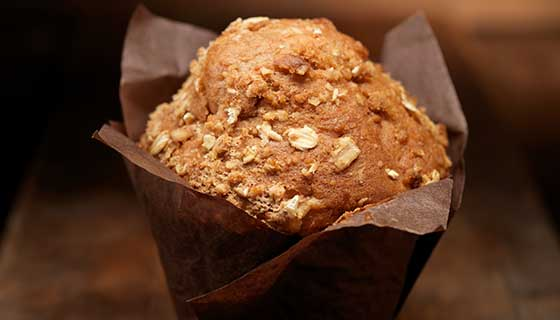 carrot oat bran muffin