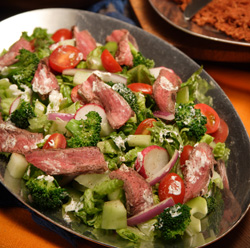 New York strip steak salad