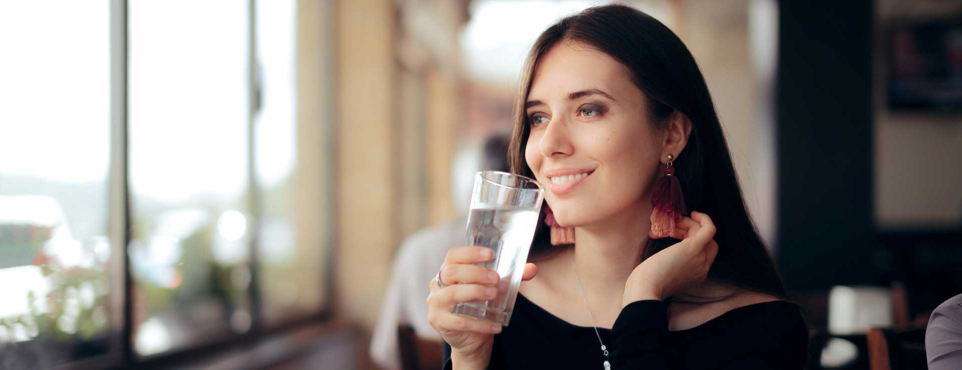 Women drinking water during fasting