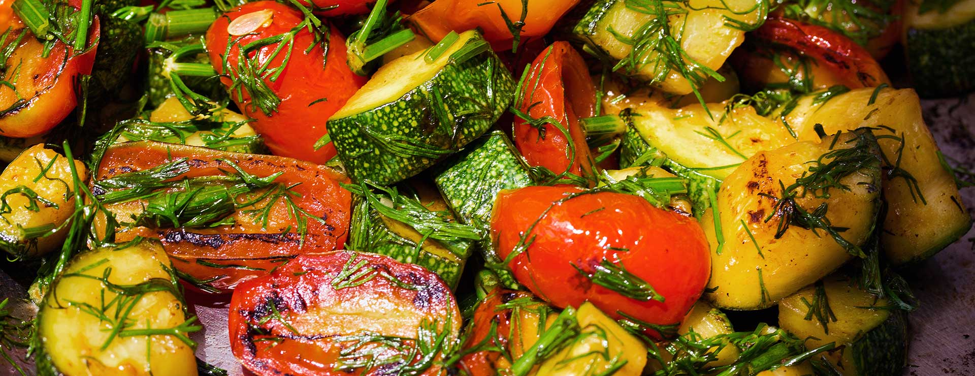 Sauteed summer squash and tomatoes.