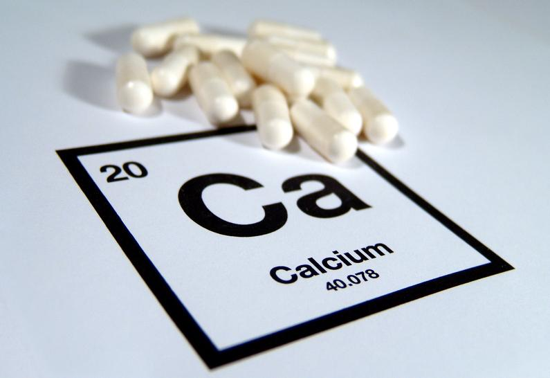 A pile of calcium supplements.
