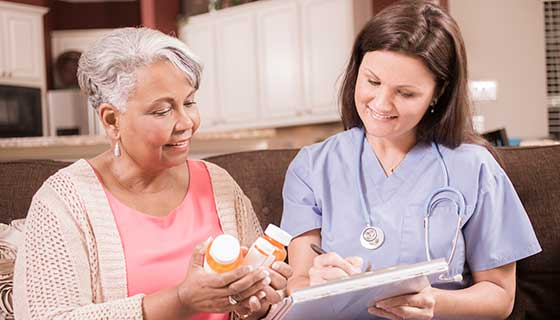 consultation about medications with nurse