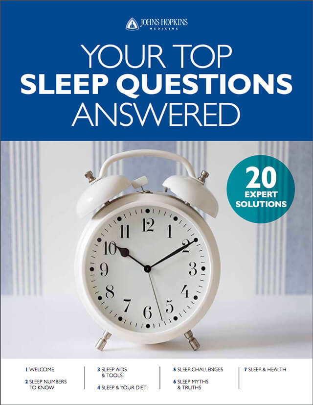 The cover of the downloadable Healthy Sleep guide, depicting an alarm clock.