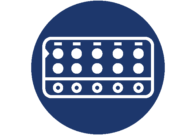 Graphic of pack of birth control pills