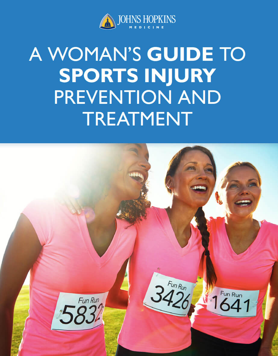 The cover image for the Woman's Guide to Sports Injury Prevention and Treatment, showing three women after a run.