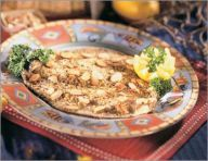 Broiled trout with almonds