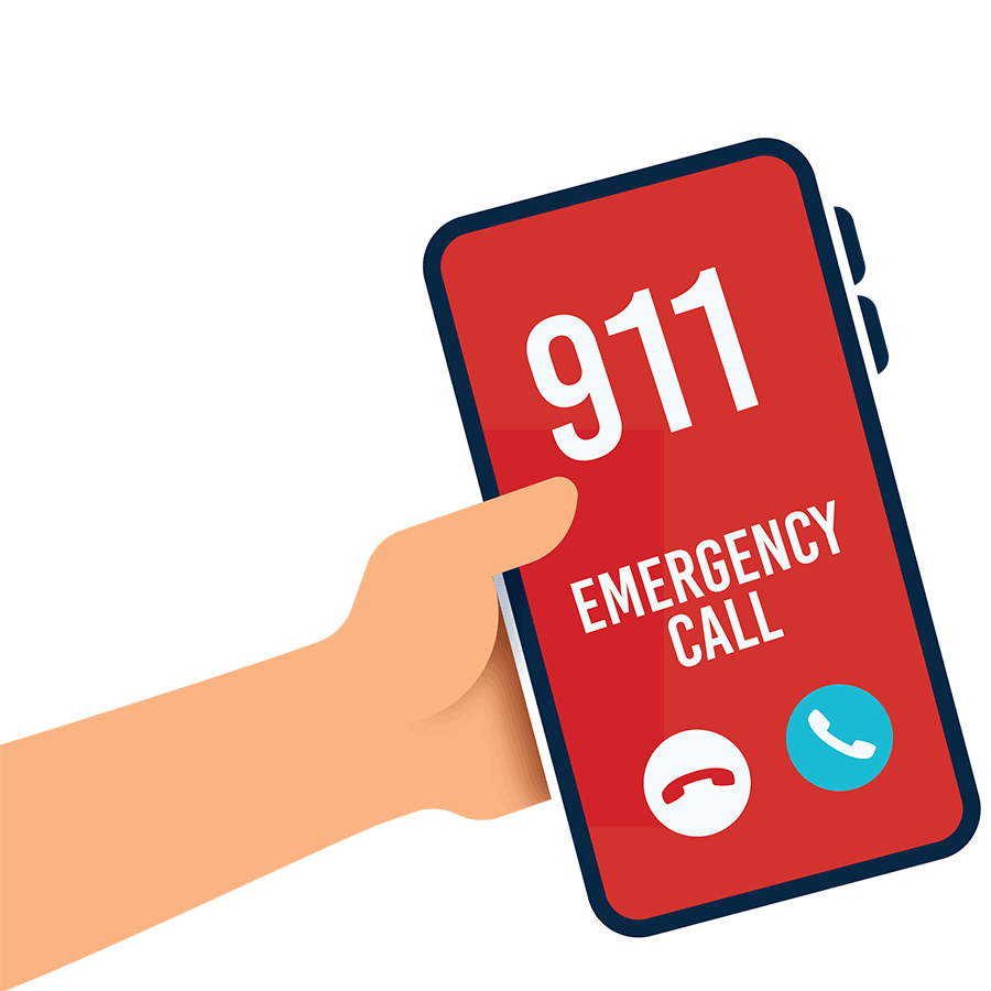 smartphone placing an emergency call