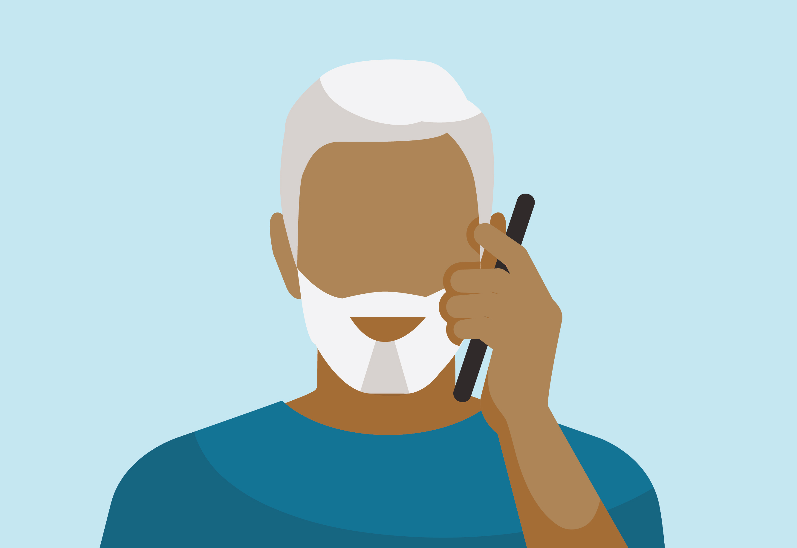 Icon showing man on the phone