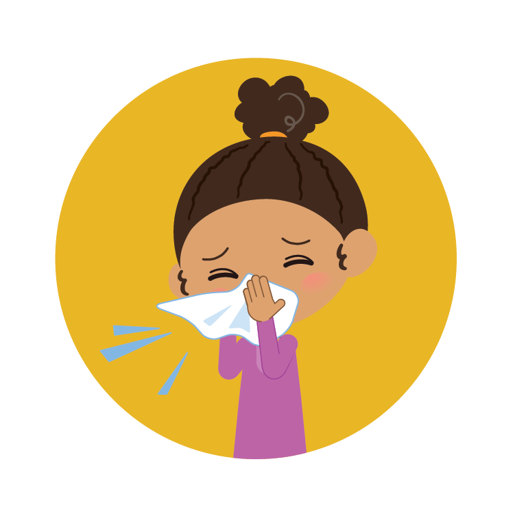 Child sneezing graphic