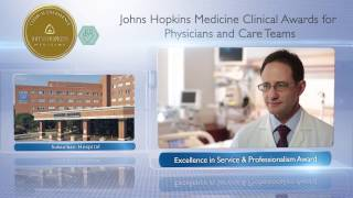 2016 Excellence in Service and Professionalism Award  James Morton MD Suburban Hospital