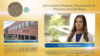 2017 Best Consulting Physician at Johns Hopkins Community Physicians  Shabina Ahmed MD