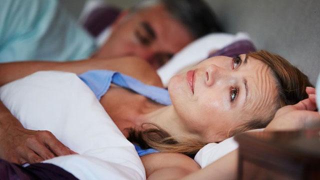 Woman unable to fall asleep