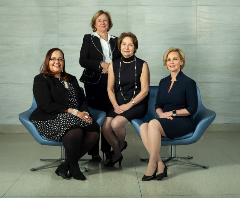 Annette Mallory Donawa, Mary Myers, Janice Clements, Karen Horton