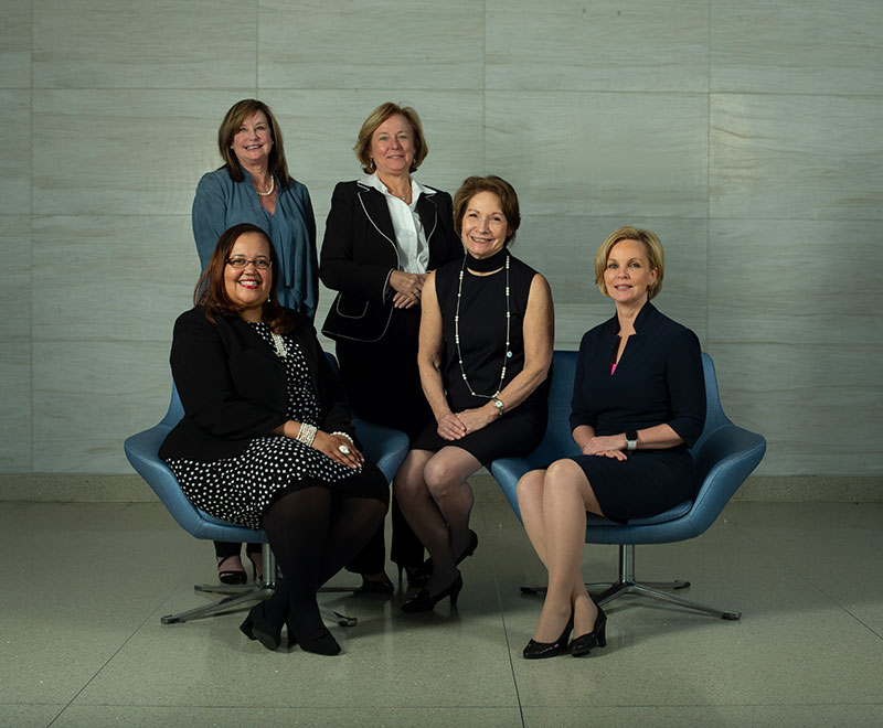 Barbara Fivush, Annette Mallory Donawa, Mary Myers, Janice Clements, Karen Horton, Tina Cheng