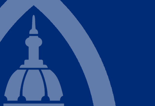 A segment of the Johns Hopkins Medicine logo, showing the Dome.