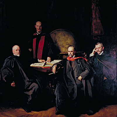 a portrait of the four founding physicians