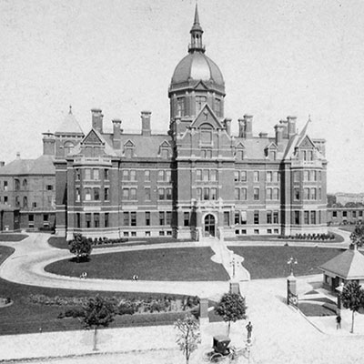 photo of The Johns Hopkins Hospital in 1889