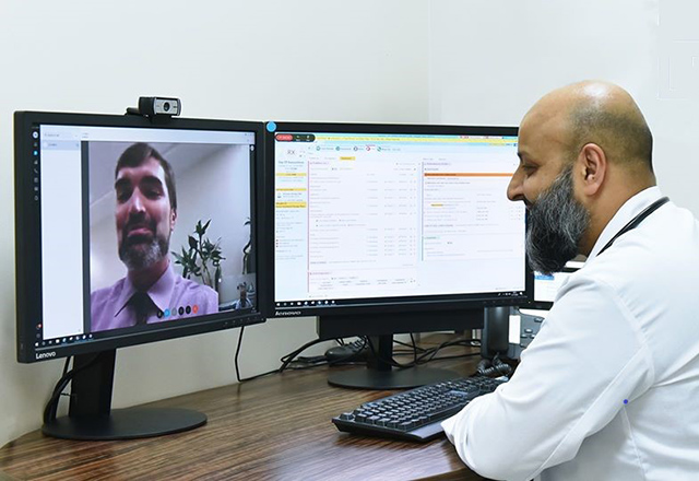 Nisar Yaseen video chats colleague