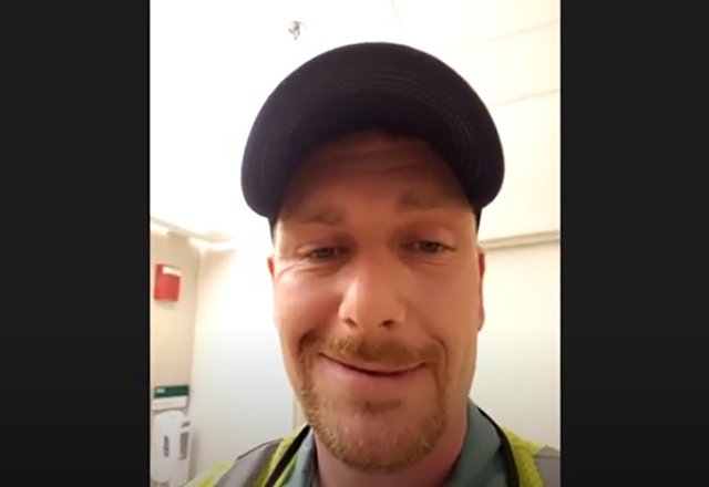 Carpenter talks about work in the hospital