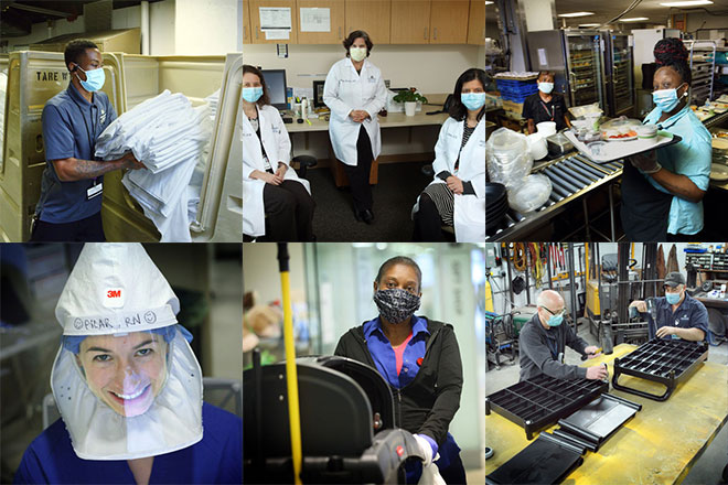 collection of Johns Hopkins workers during