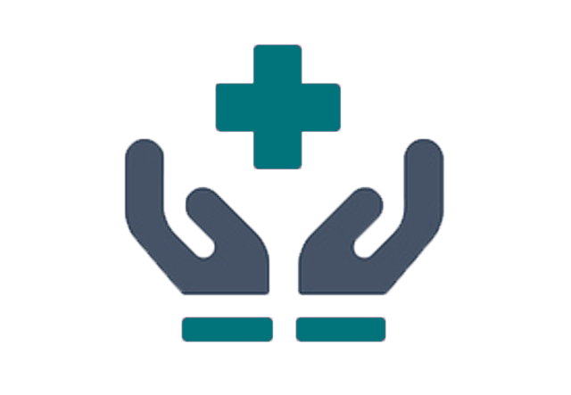 hands holding medical symbol icon