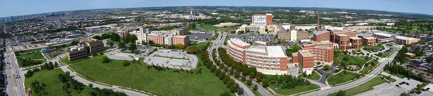 An aerial view of the Bayview Medical Center campus.