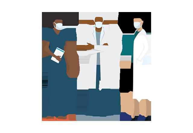 vascular medicine - diverse team illustration