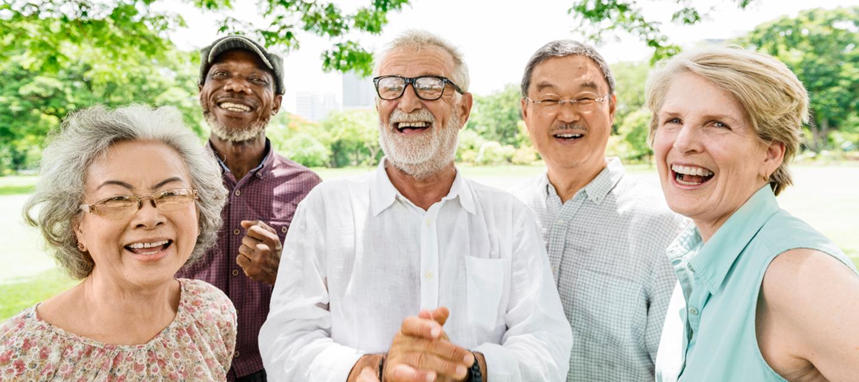 senior adults smiling