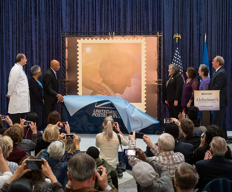 Unveiling of the stamp