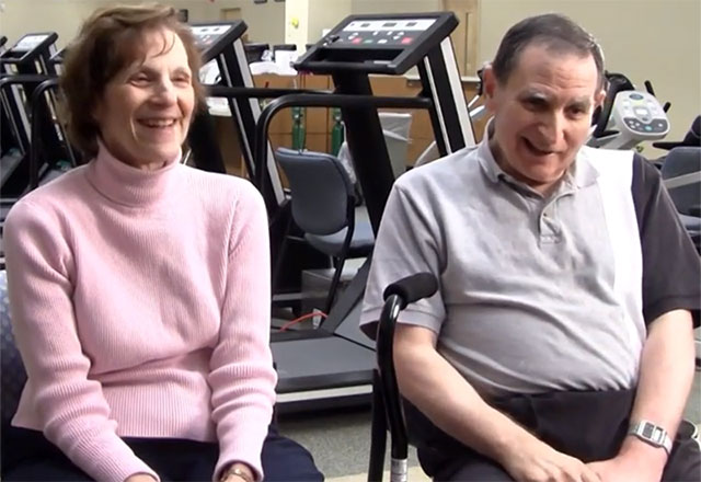 a couple in a stroke support group