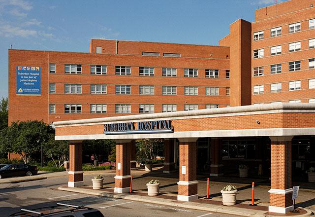Suburban Hospital entrance
