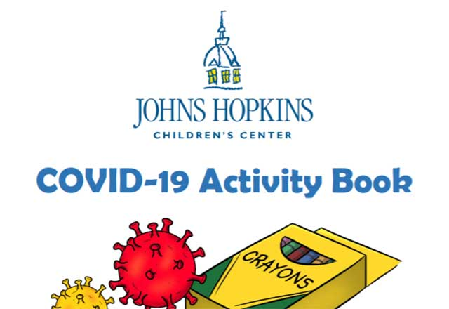 Front of the COVID activity book.