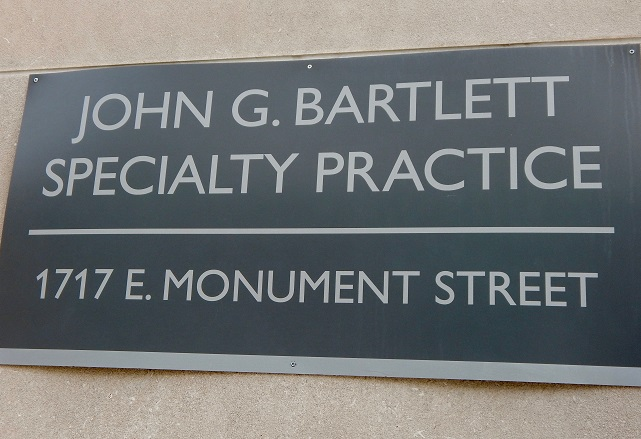 John G. Bartlett Clinic Plaque