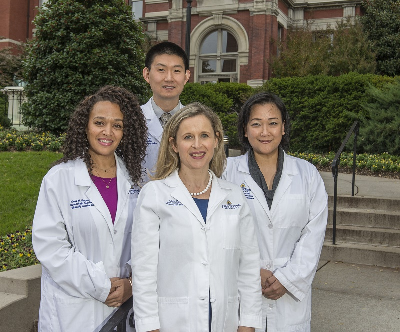 Group photo of Drs. Simpson, Patzkowsky, Wang and Wu.