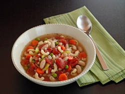 Bowl of minestrone soup